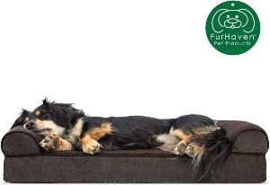 Furhaven Pet Dog Bed Therapeutic Sofa Style Traditional Living Room Couch Pet Bed W Removable Cover For Dogs & Cats Available In Multiple Colors & Styles
