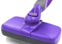 Hertzko Self Cleaning Slicker Brush – Gently Removes Loose Undercoat, Mats And Tangled Hair – Your Dog Or Cat Will Love Being Brushed With The Grooming Brush (1)