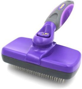 Hertzko Self Cleaning Slicker Brush – Gently Removes Loose Undercoat, Mats And Tangled Hair (1)