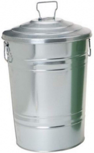 Houston International 5801 Steel 12 Gallon Storage Container, Silver