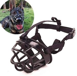 Jwpc Adjustable Anti Biting Dog Soft Silica Gel Muzzle, Breathable Safety Pet Puppy Muzzles Mask For