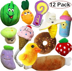 Jalousie 12 Pack Dog Squeaky Toys
