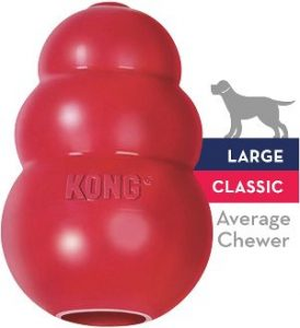 Kong Classic Dog Toy Durable Natural Rubber Fun To Chew, Chase And Fetch