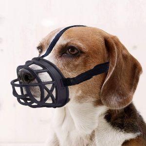 Mayerzon Dog Muzzle, Basket Breathable Silicone Dog Muzzle For Anti Barking And Anti Chewing