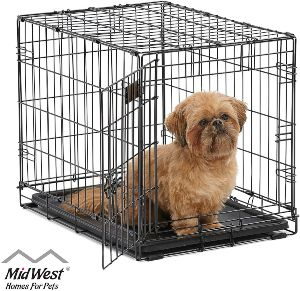 Midwest Homes For Pets Dog Crate Icrate Single Door & Double Door Folding Metal Dog Crates Fully (1)
