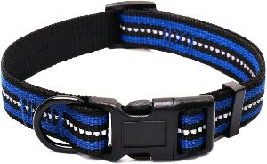 Mile High Life Night Reflective Double Bands Nylon Dog Collar (4 Sizes 7 Colors And Multi Pack Available) (1)