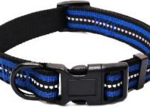Mile High Life Night Reflective Double Bands Nylon Dog Collar (4 Sizes 7 Colors And Multi Pack Available)