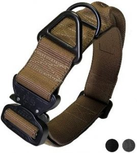 Miles Tactical Cobra Dog Collar For Large Dogs Heavy Duty