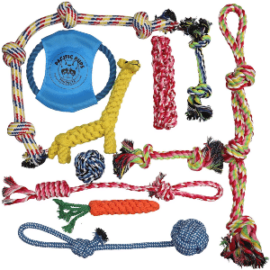 Pacific Pups Products Supporting Pacificpuprescue.com Dog Rope Toys For Aggressive Chewers Set Of 11