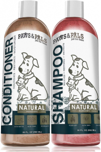 Paws & Pals Natural Oatmeal Dog Shampoo And Conditioner Combo, 2 In 1 Best For Cats & Dogs Dry Itchy