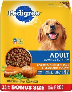 Pedigree Adult Dry Dog Food Roasted Chicken, Rice & Vegetable Flavor