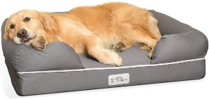 Petfusion Ultimate Dog Bed, Orthopedic Memory Foam, Multiple Sizes Colors, Medium Firmness, Waterproof Liner, Ykk Zippers, Breathable 35% Cotton Cover, Cert. Skin Contact Safe, 2yr. Warranty