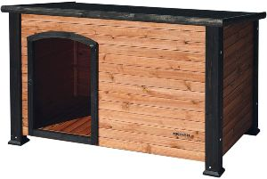 Precision Pet By Petmate Extreme Weather Resistant Log Cabin Dog House With Adjustable Feet, 4