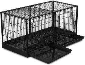 Pro Select Steel Modular Cage With Plastic Tray, Black