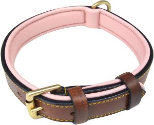 Soft Touch Collars Luxury Real Leather Padded Dog Collar (1)