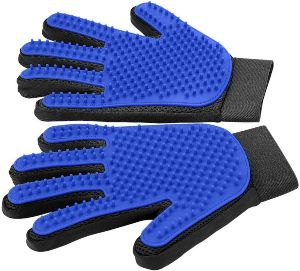 [upgrade Version] Pet Grooming Glove Gentle Deshedding Brush Glove Efficient Pet Hair Remover
