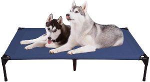 Veehoo Elevated Dog Bed, Portable Raised Pet Cot, Waterproof & Breathable Mat, Durable Textilene Me