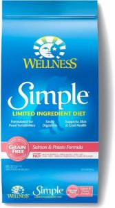 Wellness Simple Natural Grain Free Dry Limited Ingredient Dog Food, Salmon & Potato, 24 Pound Bag