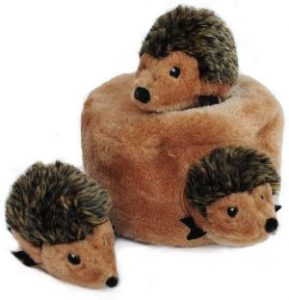 Zippypaws Woodland Friends Burrow, Interactive Squeaky Hide And Seek Plush Dog Toy