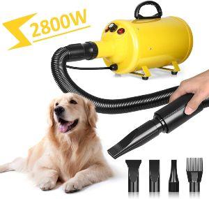 Amzdeal Dog Dryer 3.8hp 2800w Stepless Adjustable Speed Dog Hair Dryer,