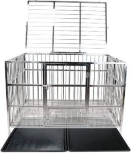 Confote Heavy Duty Stainless Steel Dog Cage Kennel Crate