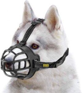 Fertgo Soft Breathable Basket Silicone Dog Muzzles For Small, Medium And Large Dogs, Adjustable, Ant