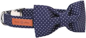 Lionet Paws Dog And Cat Collar With Bowtie,soft And Comfortable