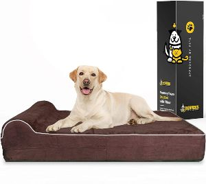 7 Inch Thick High Grade Orthopedic Memory Foam Dog Bed With Pillow And Easy To Wash Removable Cover