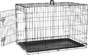 Amazonbasics Single Door & Double Door Folding Metal Dog Crate Kennel