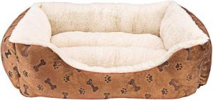 Animals Favorite New Rectangle Pet Bed With Dog Paw Printing