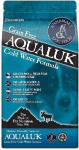 Annamaet Grain Free Aqualuk Dry Dog Food, 12 Pounds, With Omega 3s From Fish