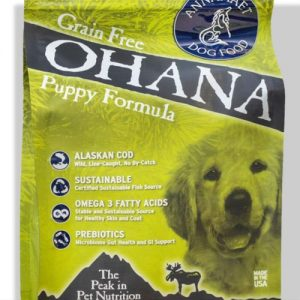 Annamaet Ohana Puppy Formula Dry Dog Food 5 Lb. Bag. With Wild Alaskan Cod Grain Free Puppy Food