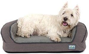 Better World Pets Super Comfort Bolster Dog Bed New Cover Waterproof Orthopedic Memory Foam Du
