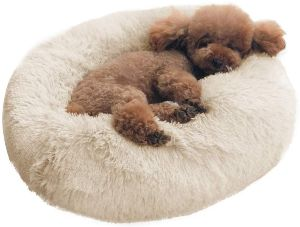 Binetgo Dog Bed Cat Bed Cushion Bed Faux Fur Donut Cuddler For Dog Cat Joint Relief And Improved Sle