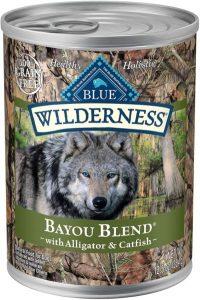 Blue Buffalo Wilderness Bayou Blend High Protein Grain Free, Natural Wet Dog Food, Alligator & Catfi (1)