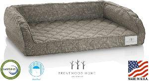 Brentwood Home Deluxe Gel Memory Foam Orthopedic Pet Bed, 100% Made In Usa, Waterproof, Certipur Us