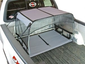 Bushwhacker K9 Canopy W Pad And Tether For Truck Bed Dog Shade Shelter Kennel Hound Hut Tent Leash