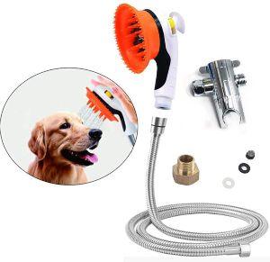 Buy Plus Pet Shower Sprayer Tool Kit Dog Bathing Sprayer Head With Shower Brush Scrubber And Splas