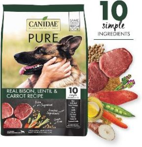 Canidae Pure Real Bison, Limited Ingredient, Grain Free Premium Dry Dog Food