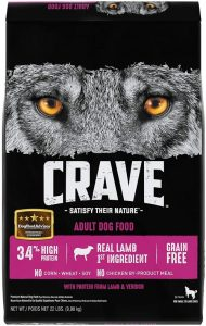 Crave Grain Free High Protein Adult Dry Dog Food, Lamb & Venison