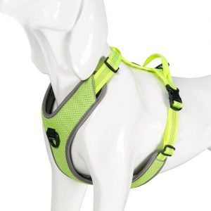 Chai's Choice Best New! Outdoor Adventure 2 No Pull Dog Harness. 3m Reflective Vest With 2 Leash Cli