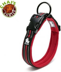 Chai's Choice Best Padded Comfort Cushion 3m Reflective Dog Collar For Small, Medium, And Large Dogs