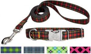 Country Brook Petz Premium Collar & Leash Plaid And Argyle Collection