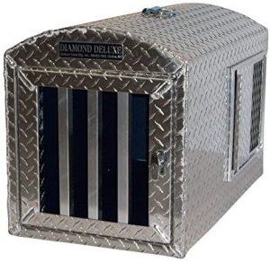 Diamond Deluxe Aluminum Single Hole Dog Box, Dog Crate, Dog Carrier, Dog House