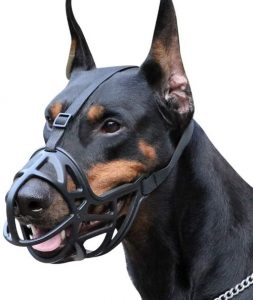 Dog Muzzle, Breathable Basket Muzzles For Small, Medium, Large And X Large Dogs, Anti Biting, Barkin