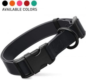 Dogline Biothane Waterproof Dog Collar With Quick Release Buckle Strong Coated Nylon Webbing With Od