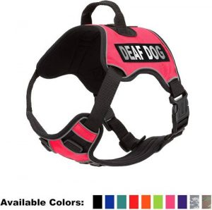 Dogline Quest No Pull Dog Harness With Deaf Dog Reflective Removable Patches Reflective Soft Comfort