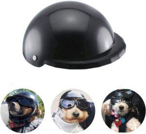 Enjoying Dog Helmets For Motorcycles, Doggie Hat For Bike, Black