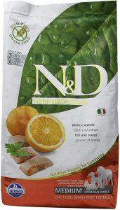 Farmina Natural And Delicious Grain Free Formula Dry Dog Food, 5.5 Pound, Wild Herring