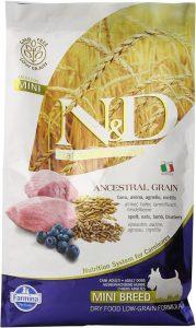 Farmina Natural And Delicious Lamb And Ancestral Low Grain Formula Small Bites Dry Dog Food, 5.5 Po